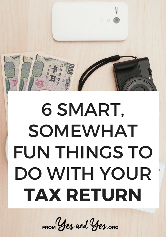 Looking for financial advice on what to do with your tax returns this year? These fun, basic money tips will get you pointed in the right direction!  Click through for 6 money ideas you can use today!