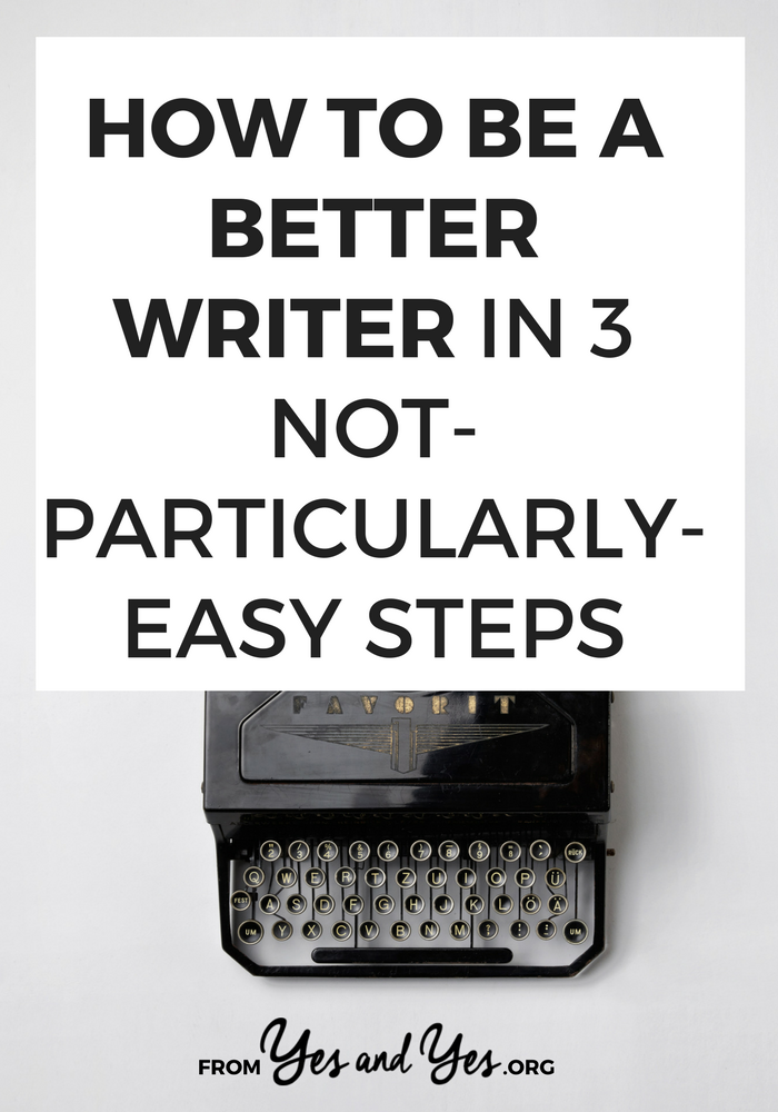 Do you want to be a better writer? If you write a blog, being a decent writer helps! Click through for writing tips that will help you improve your blog + land more clients!