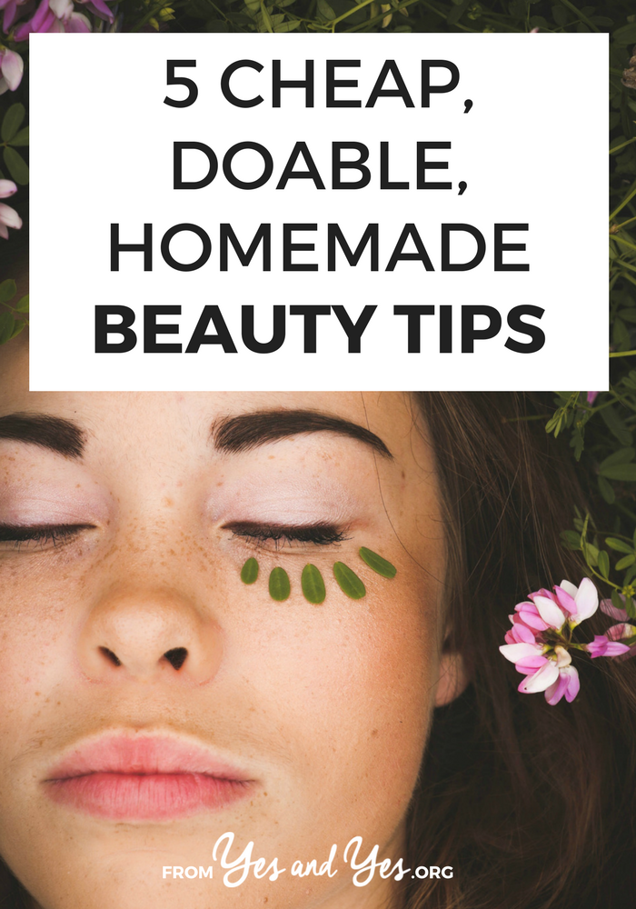 If you love DIY beauty advice and homemade beauty tips, this post is for you! Click through for DIY mask recipes and my trick for razor burn and dry cuticles!