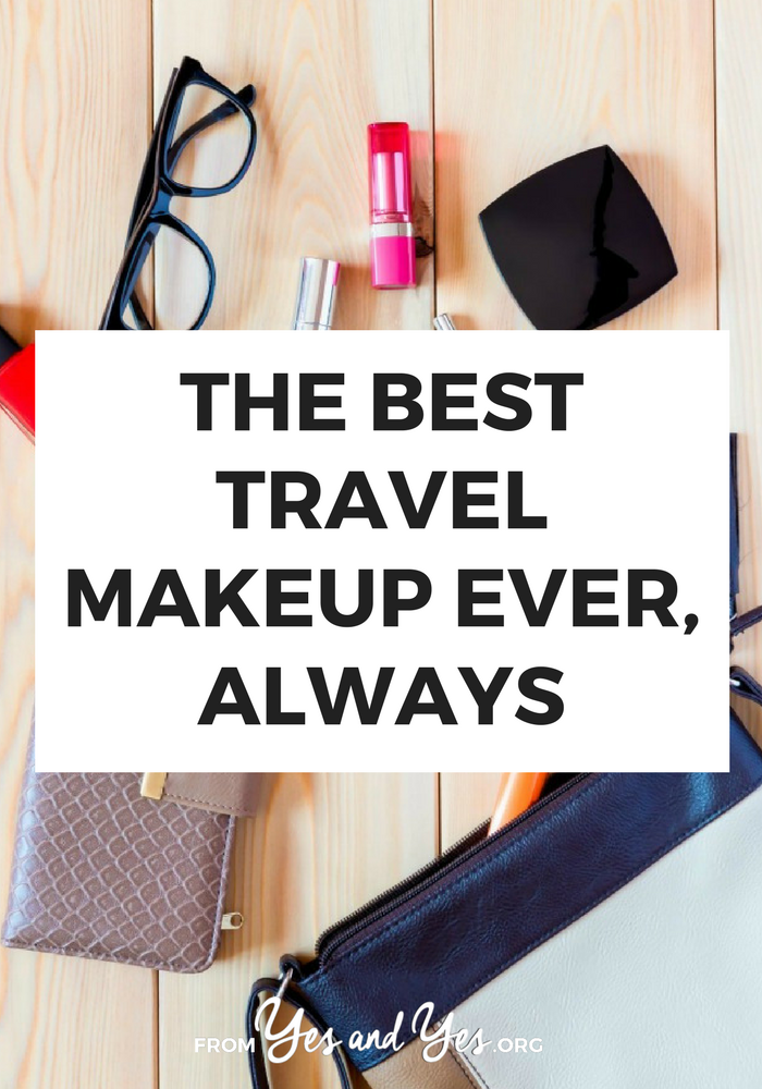 Looking for the best travel makeup? Well, I've been to 36 countries so I kind of know what to pack in a travel makeup bag! Click through so you can pack your own!