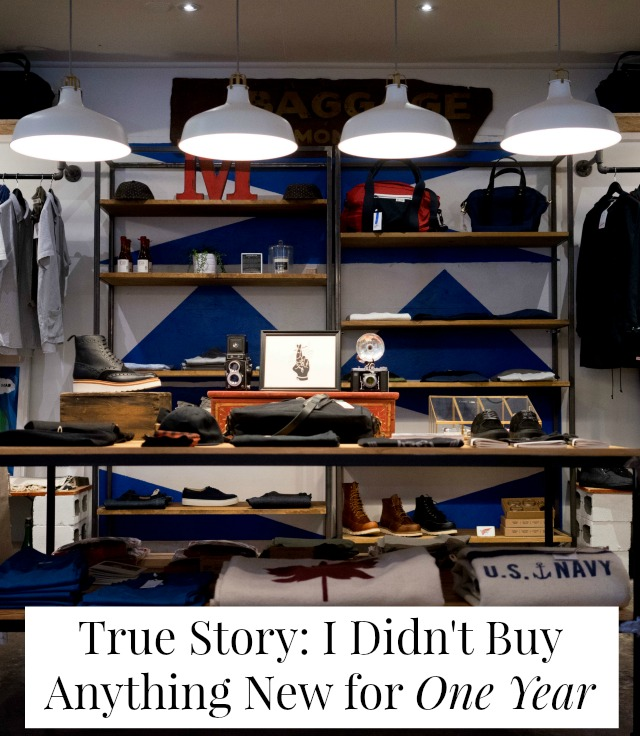 True Story: I didn't buy anything new for one year // yesandyes.org