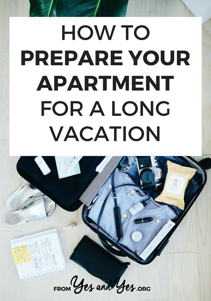 Do you need to prep your apartment for vacation? There are so many things to do before you travel and it's easy to forget! Click through for tips on how to prepare your home for travel!