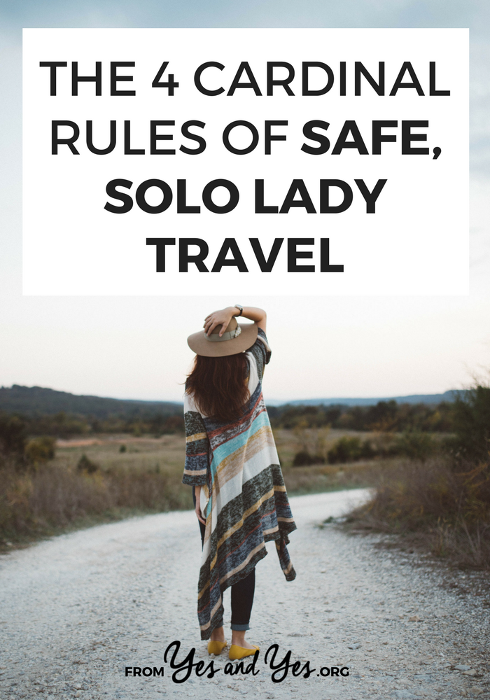 Traveling alone when you're a woman isn't as hard or scary as people would have you believe! I've traveled through 32 countries and taken a 9,000-mile American roadtrip - all by myself. Click through for the tips and products I swear by >> yesandyes.org