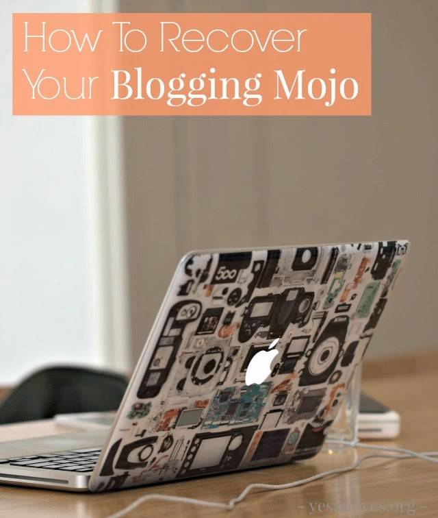 get excited about blogging again