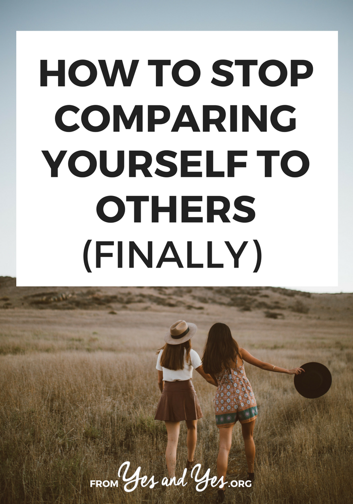 Want to stop comparing yourself to others? Avoid the comparison trap once and for all? It's possible, but it starts with YOU. Click through to learn how.