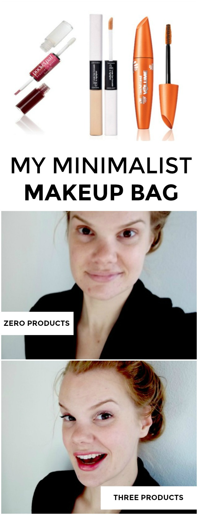 Trying to create a more minimalist makeup bag? Looking for travel makeup that won't take up tons of space? These are the three products I absolutely swear by for travel and run-to-Target situations!