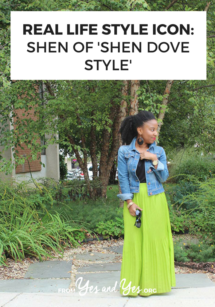 A neon green maxi skirt and a denim jacket + style tips from your favorite black style blogger!
