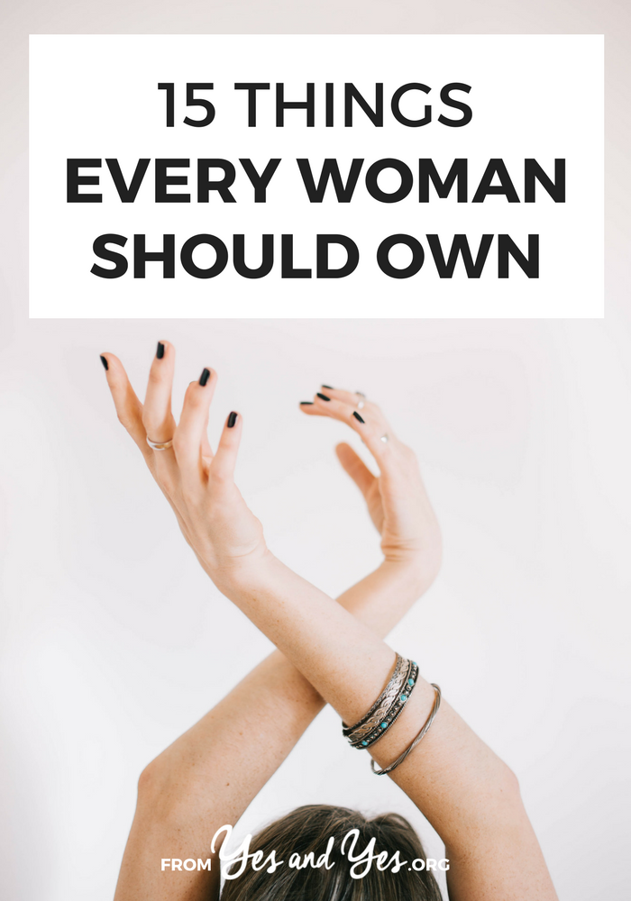 What things should a woman own? Besides the perfect LBD? What about a great suitcase, a quality set of tools, and some photos of herself she really loves? Click through for 12 more things I think you should buy! >> yesandyes.org