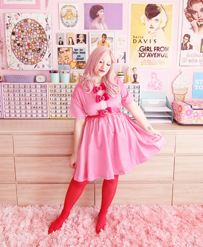 a pink dress + budget style tips from a pink-haired style blogger!