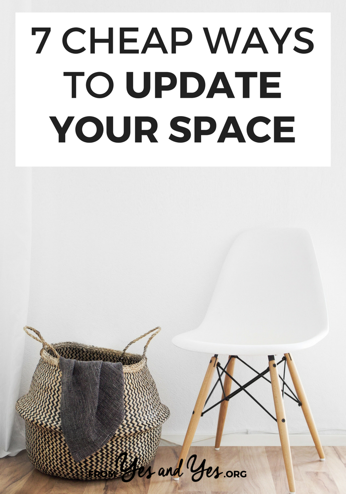Want to update your space? Looking for cheap design tips and easy decor tips that make a big difference? Look no further! I swear by these 7 decor ideas - I do them once or twice a year! >> yesandyes.org