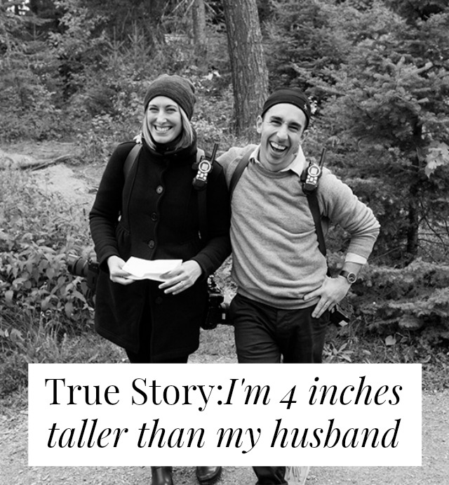Don't let height stop you from dating someone awesome! A super sweet interview with a woman who's taller than her husband.
