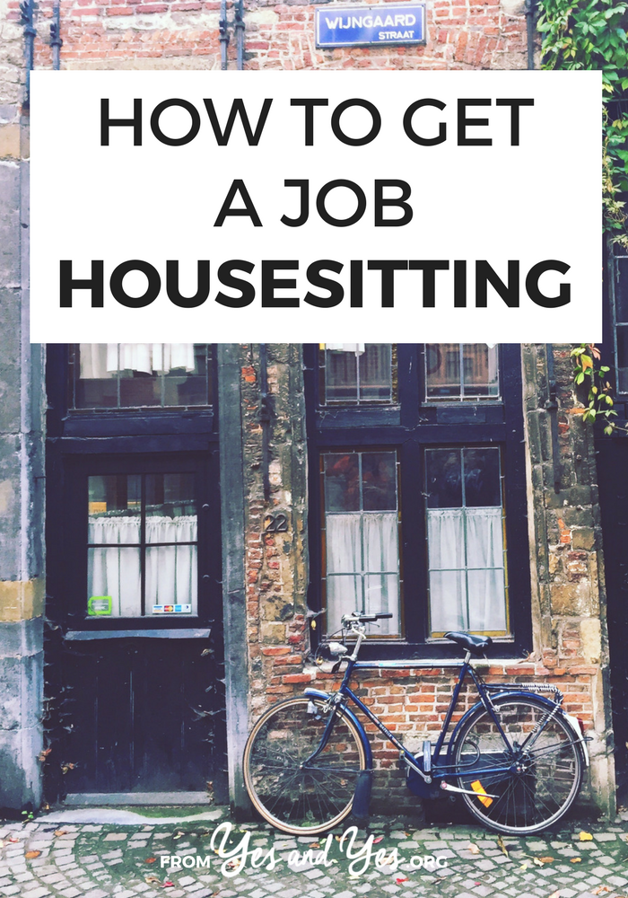 how to get house sitting jobs