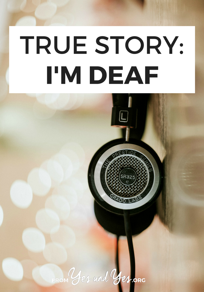 What's it like to be deaf - especially to be someone who lip reads, so a lot of people don't even know you're deaf? Click through for one woman's story
