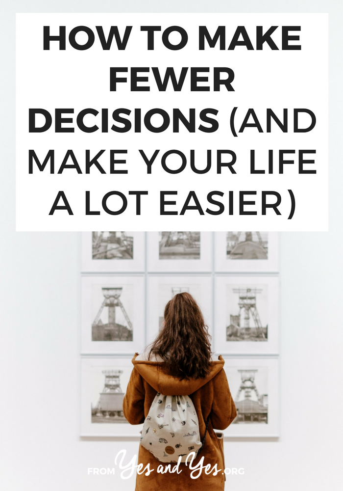 Want to be more productive? Have more energy? All the productivity tips in the world won't help you if you make the wrong decisions. Decision fatigue is real - click through to find out what you should do instead