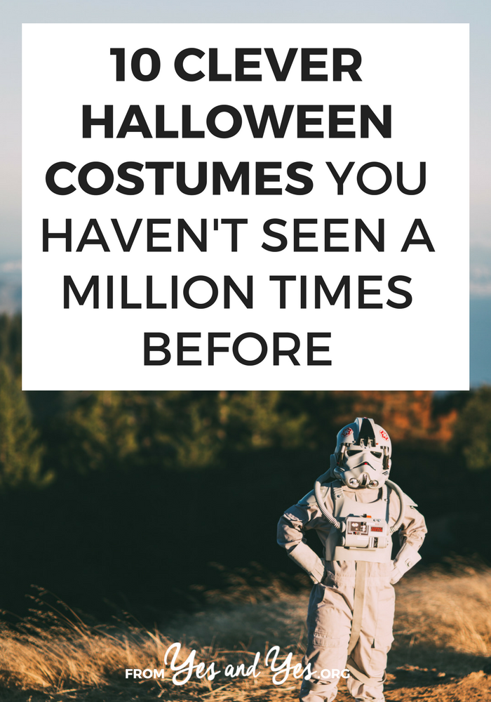 Looking for clever Halloween costumes that haven't been 'done to death'? Want something better than 'sexy kitty'? Click through for 10 great costume ideas!
