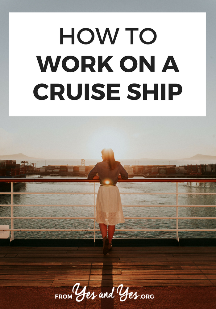 Want to work on a cruise ship? Looking for a job that pays you to travel? Click through for tips from a woman who's worked done several stints working on cruise ships - how to apply, what to expect, what you get paid, etc!