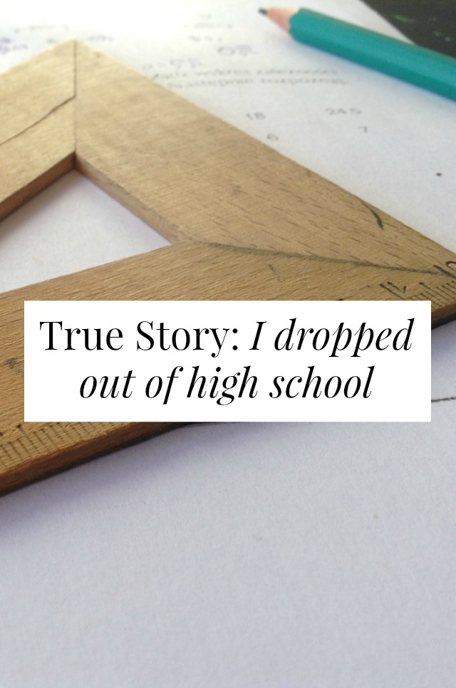 i dropped out of high school