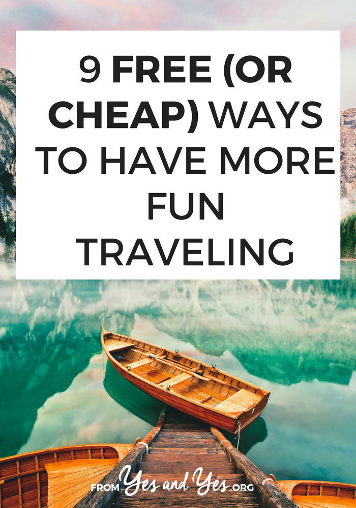 Budget travel doesn't have to be boring and saving money while you travel doesn't have to suck! Click through for 9 free or cheap travel ideas you can use in any destination!