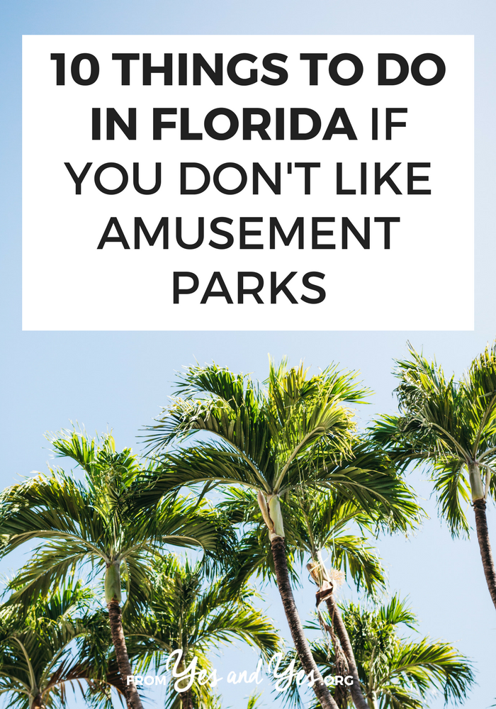 There are so many things to do in Florida, even if you don't like amusement parks! Check out live mermaids, great thrift stores, and amazing Cuban food! // yesandyes.org