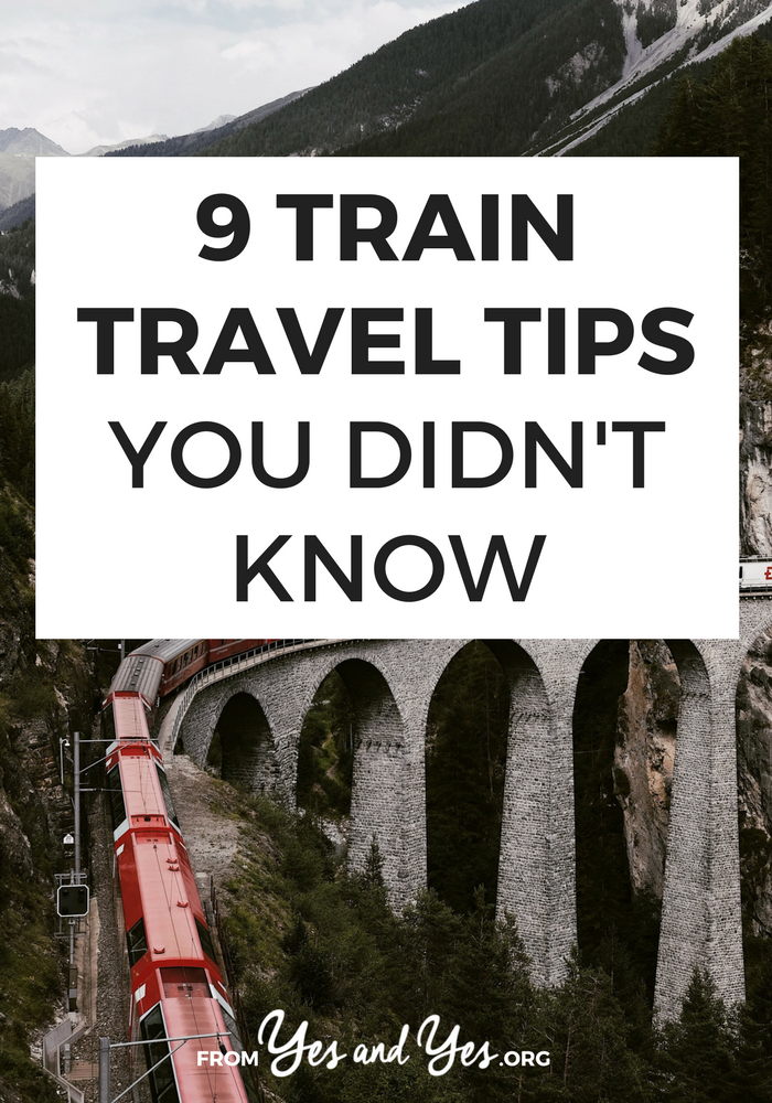 Looking for train travel tips? I've taken trains in dozens of countries over thousands of miles. Here's what I pack and how I prepare >> yesandyes.org