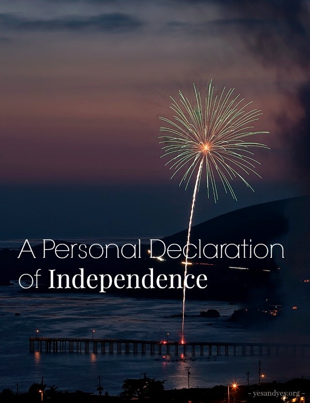 personal declaration of independence