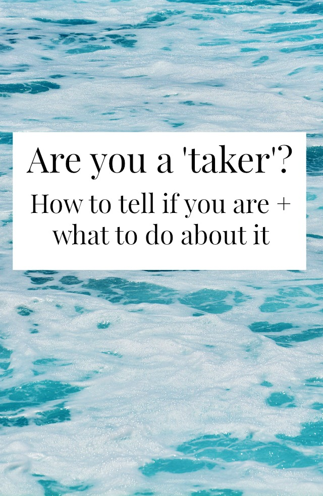 """Have you ever asked yourself """"Am I a taker?"""" Most of us are at some point in our friendships. Here's how to figure out if you are + what to do about it! >> yesandyes.org"""