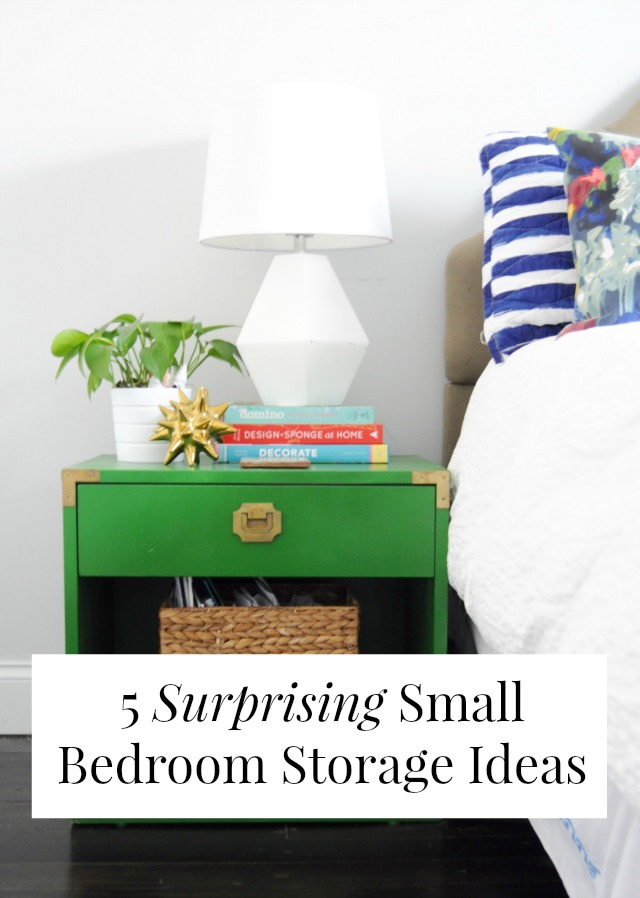 5 surprising small bedroom storage ideas - Cheap storage ideas for small spaces decor ...