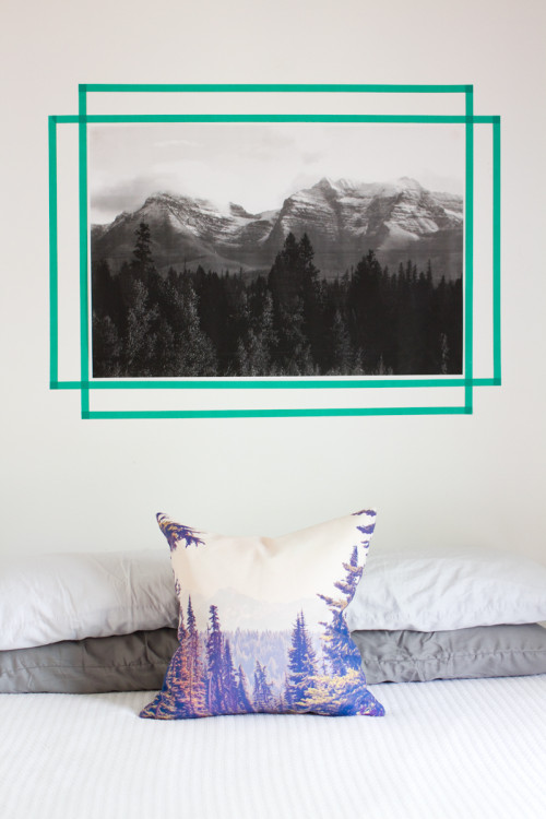 Amazing Nails For Hanging Art Part - 13: Hanging Art With Washi Tape