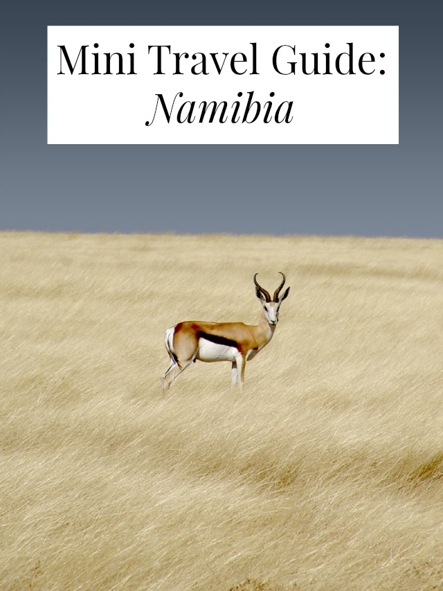 Mini travel guide to Namibia