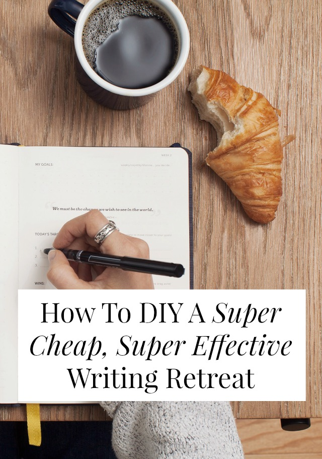 A DIY writing retreat might be the answer to all your writer's block and editorial problems! I do these every single month and it's totally changed my business. Click through for the step-by-step details of how I make it happen