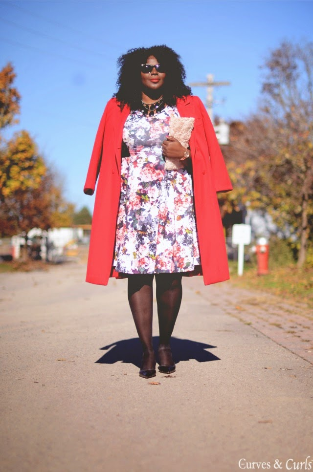 A floral peplum dress + style tips from your new favorite plus size black fashion blogger!