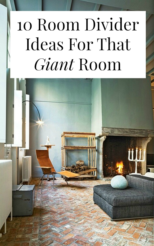10 room divider ideas for that giant room for Room divider ideas for small spaces