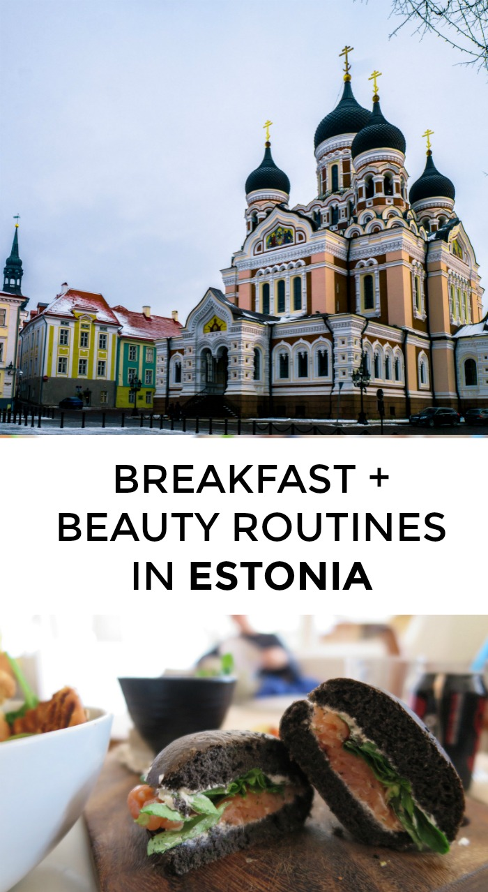 What's a typical breakfast + beauty routine for an Estonian woman? Also: what's up with 'kurd snacks'? // yesandyes.org
