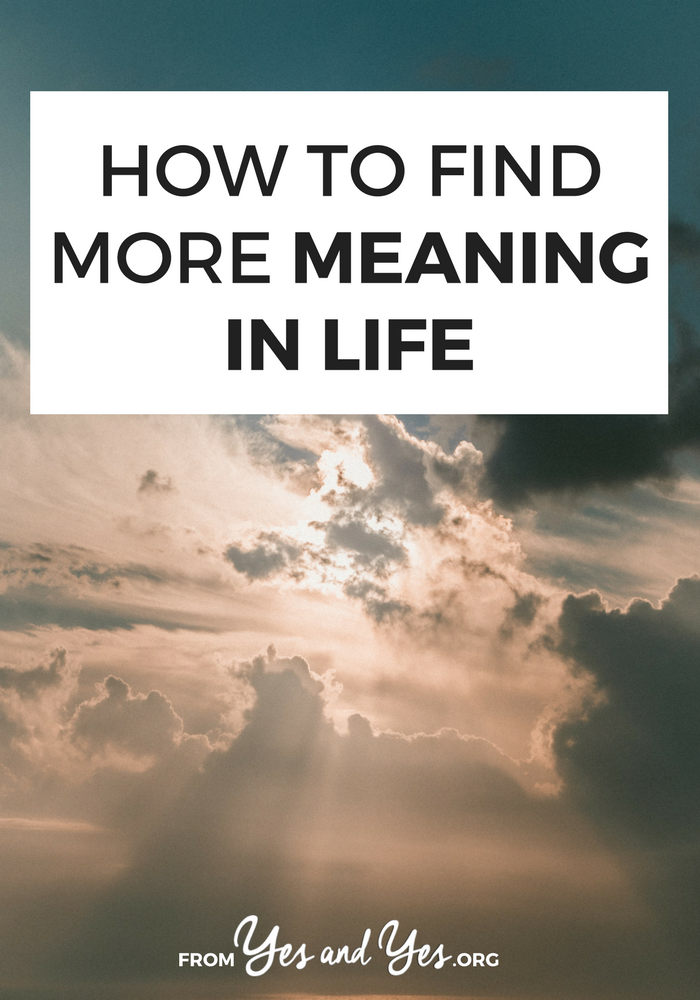 Would you like to find more meaning in life? Without necessarily joining a church? Anyone call live a more meaningful, fulfilled life by doing these 6 things. Click through to find out how to find more meaning today