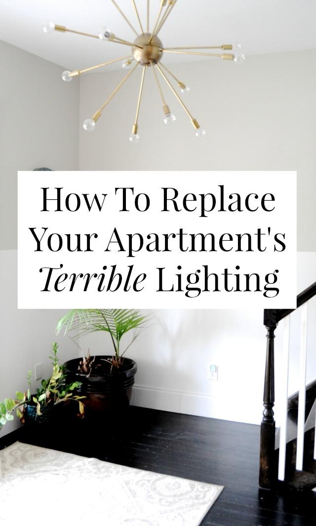 replace apartment lighting