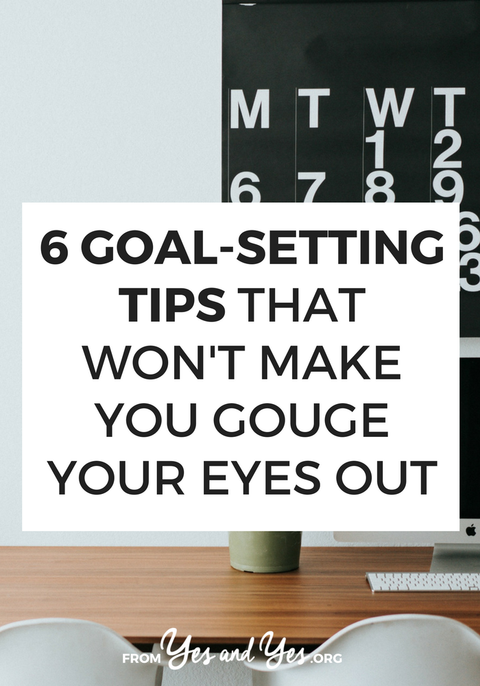 Looking for goal setting tips? Want to be more productive? Trick question! We all want to be more productive! Click through for 6 super helpful goal tips!