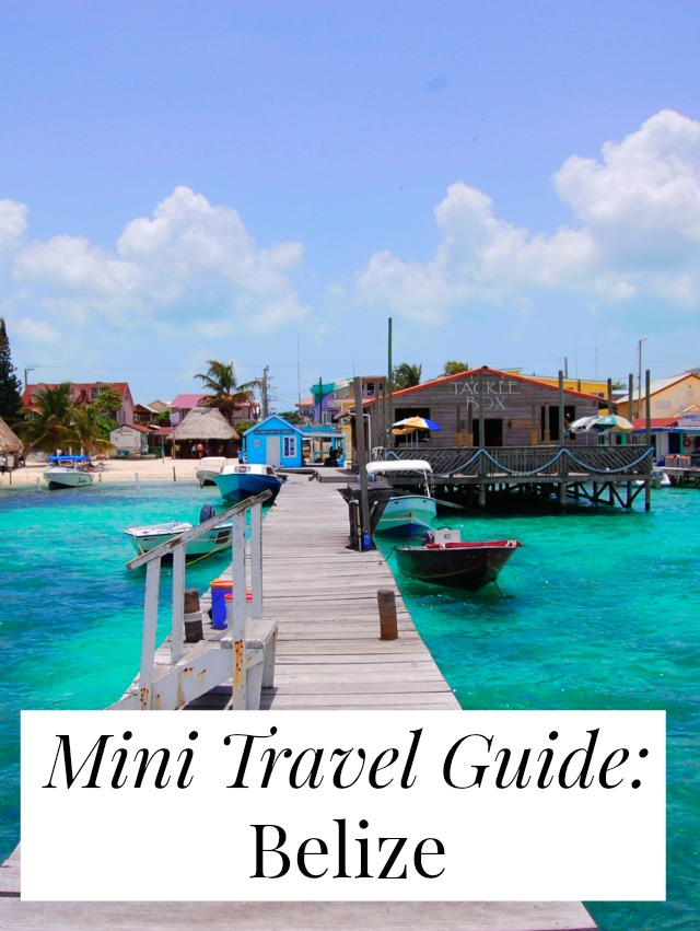 travel tips belize