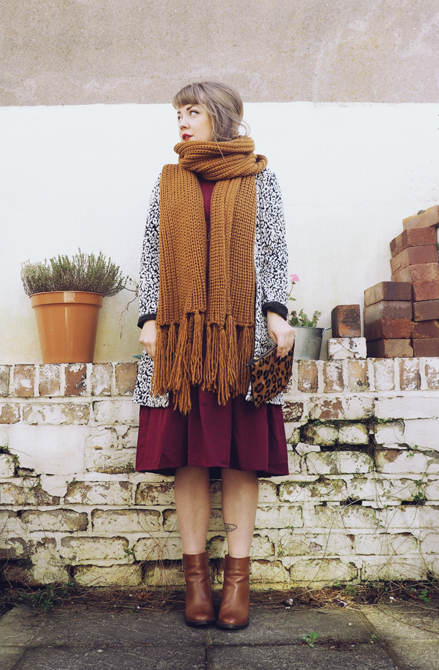 Large knit scarf