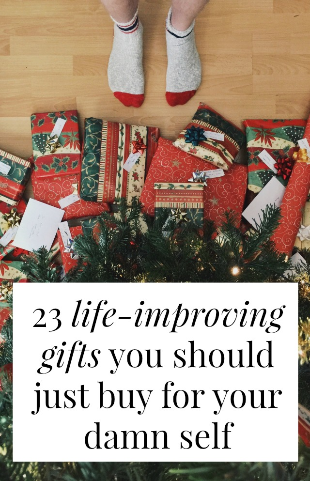 What gifts should you buy yourself? What are the things that will improve your life but nobody really wants to wrap and give you? These are all things I swear by! Target seamless underwear, the perfect travel mug, the best cutting board. Click through to see my list of gift ideas! >> yesandyes.org