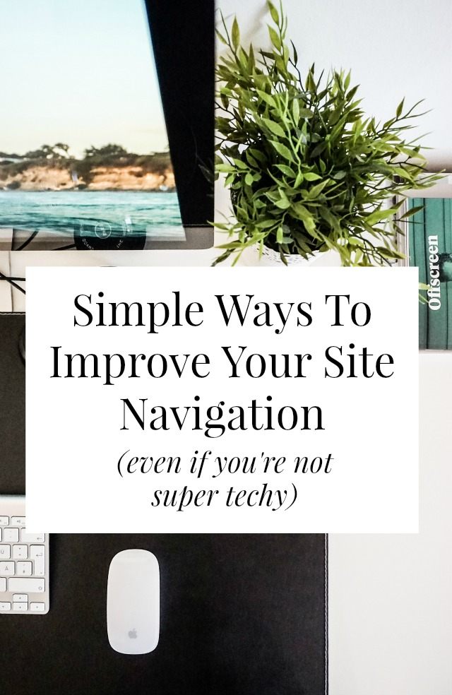 There are lots of simple ways to improve your site navigation - you don't need to know html or be super techy to make your site more user-friendly! Click through for 2 free tools that will help you + 1 quick way you can update your archives! // sarahvonbargen.com
