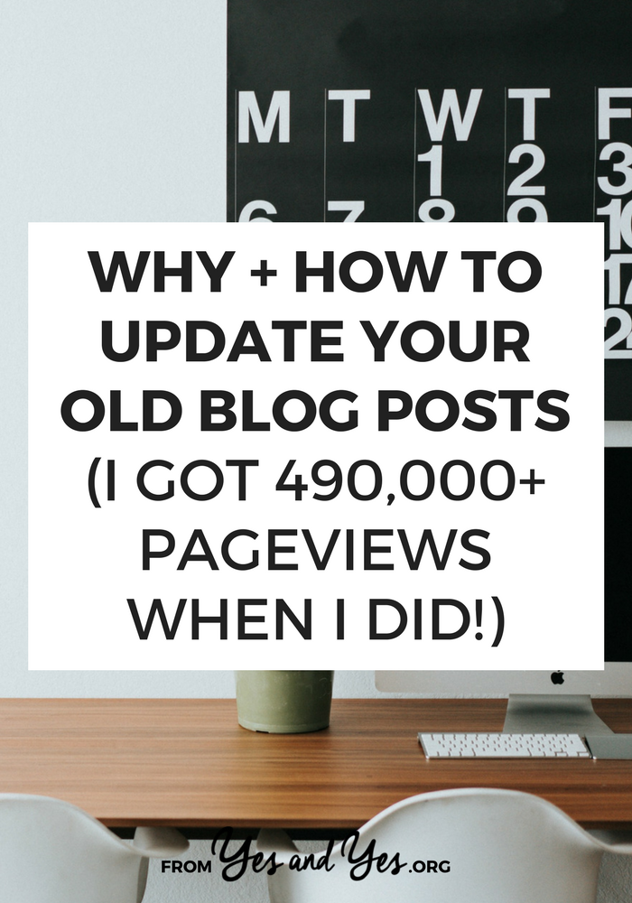 Want more blog traffic? More blog readers? Updating your old, most popular posts is a suuuuper easy way to get more blog readers and grow your email list! Click through for my 11-point checklist of how I do it.