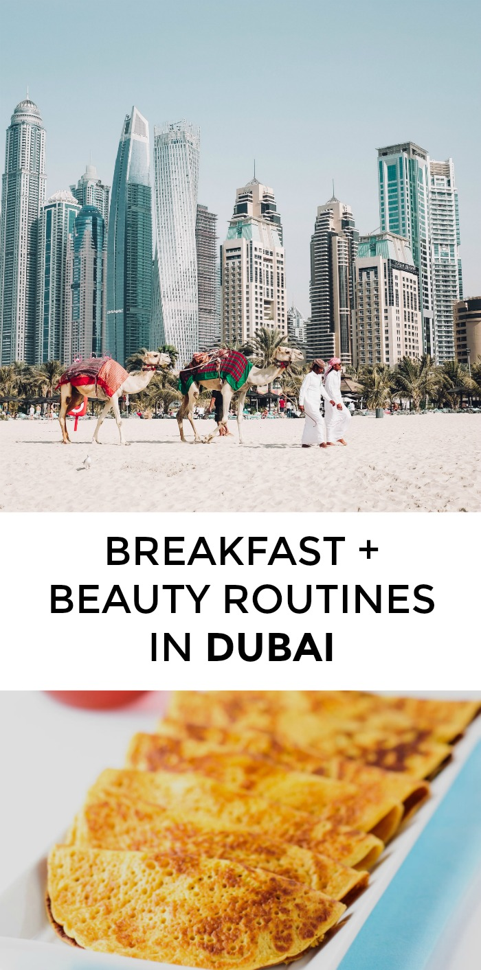 What does a breakfast + beauty routine look like in Dubai? One style blogger shares her favorite products and recipes! >> yesandyes.org