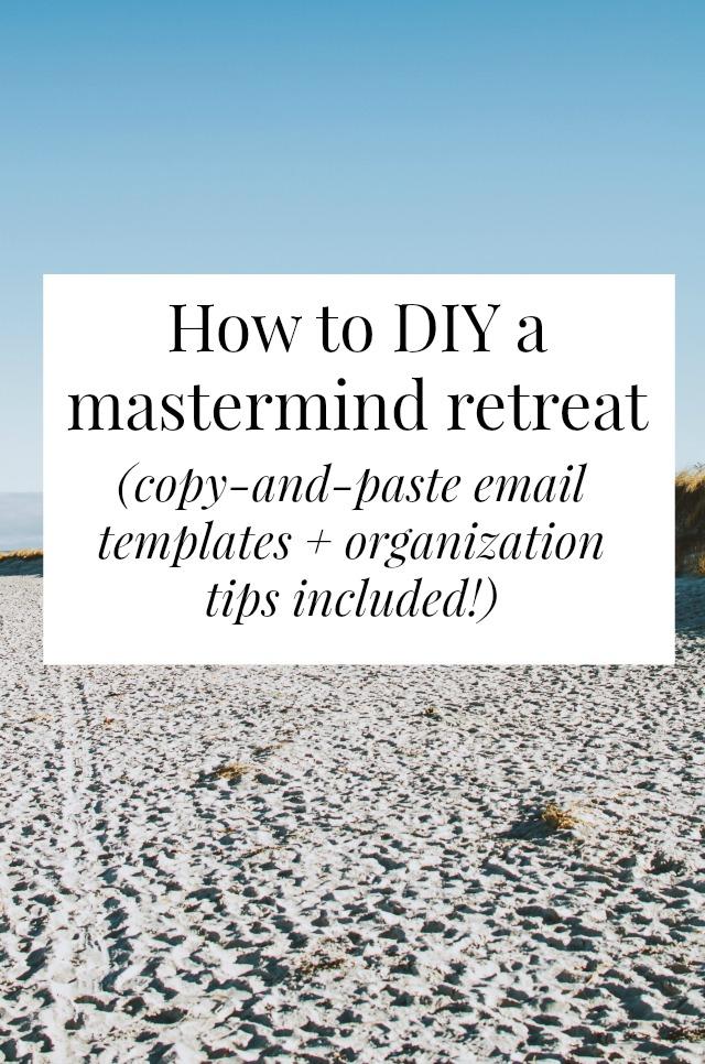 DIY mastermind retreat