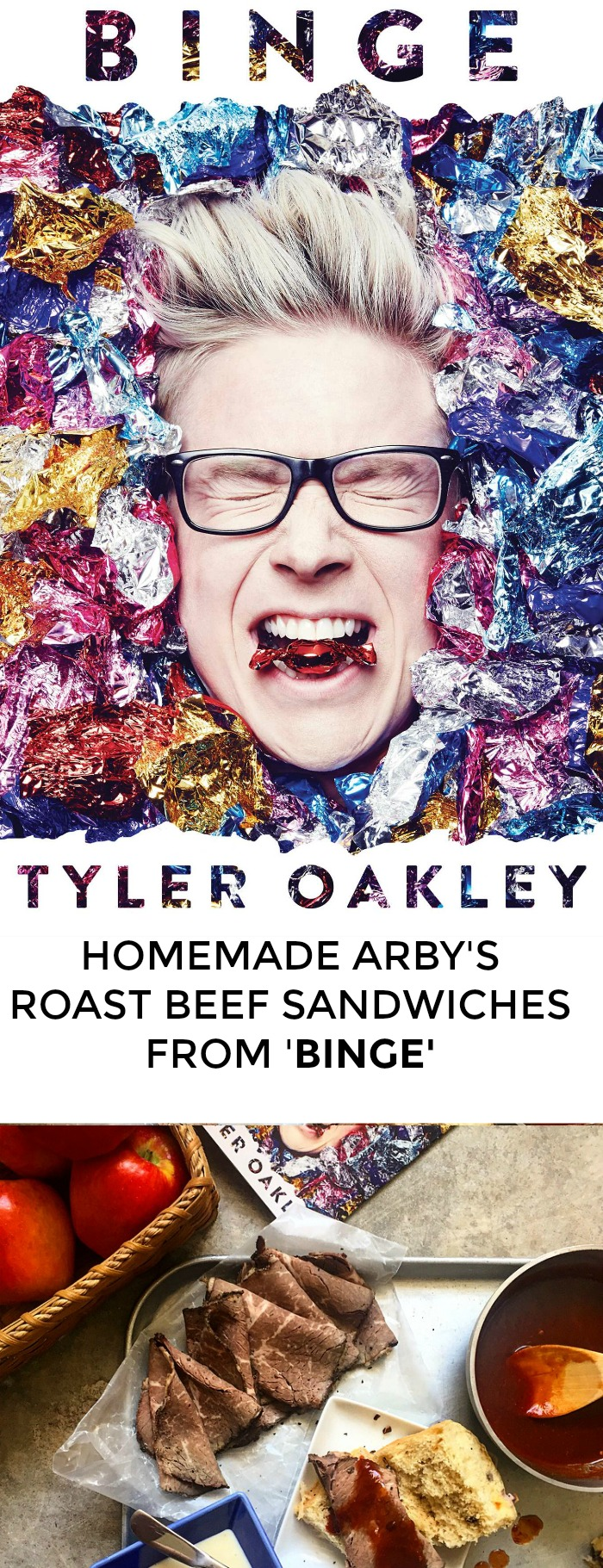 Looking for a recipe from Binge? Not sure who Tyler Oakley is but really trying to impress your book club? Me, too! Click through for an awesome recipe for homemade Arby's roast beef sandwiches inspired by 'Binge'!