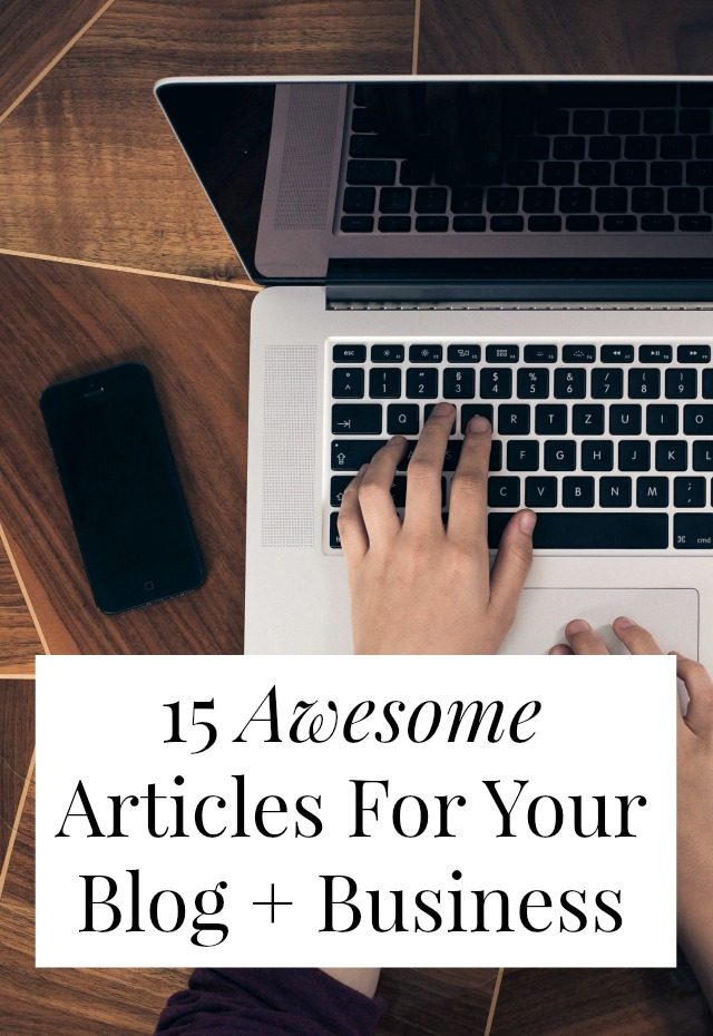 Looking for blogging tips or small business advice? I rounded up 15 of the best articles and posts I read this month. Tips on social media management, working with blog sponsors, and low-tech ways to get more business! Click through to read 'em! >> yesandyes.org