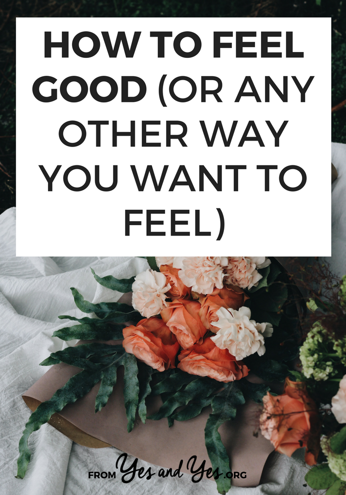 Want to feel good? Looking or happiness tips? It's possible to feel any way you want to feel - without spending a bunch of money. Click through for ideas!