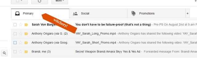 convertkit gmail primary folder