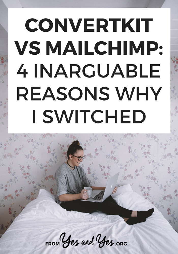 Who wins in ConvertKit vs Mailchimp cage match? Welp, ConvertKit doesn't double charge you for subscribers who are on 2 lists AND their emails land in Gmail's Primary folder. Click through for more reasons why I switched! >> yesandyes.org