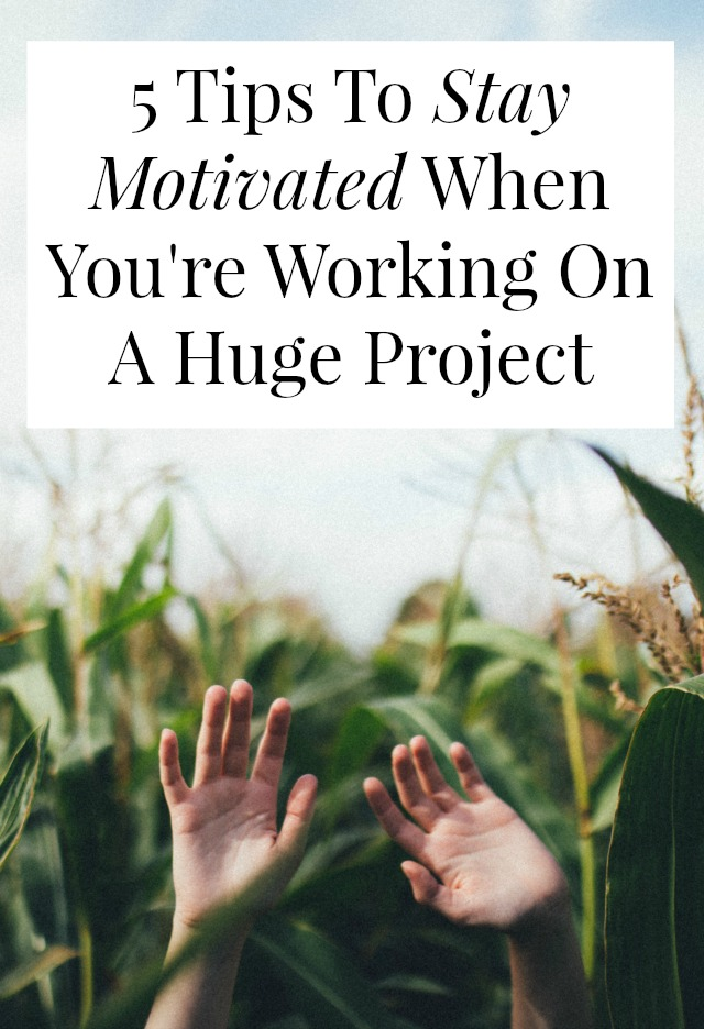 Trying to stay motivated while working on a huge, months-long project? One woman shares how she stayed focused and productive while writing an 80,000-word book in 8 months! >> yesandyes.org