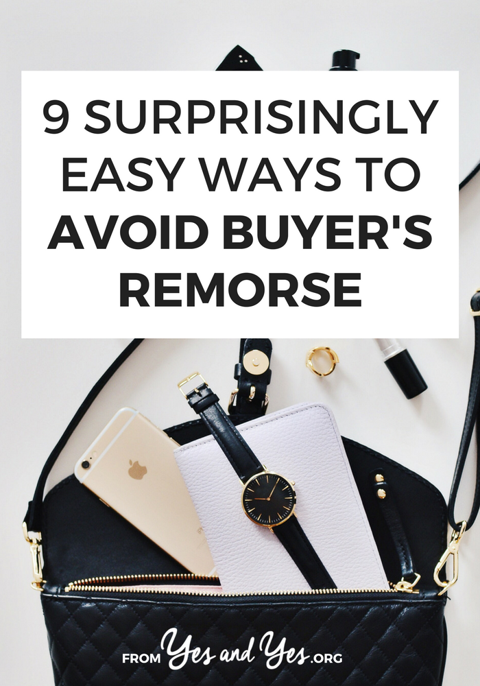 """Do you ever have buyer's remorse? We all do! One of the best budgeting tips is """"buy fewer things you don't need"""" Click through to find out how!"""